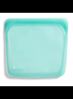 Stasher Silicone Reusable Sandwich Bag: Aqua