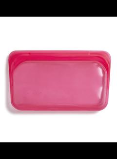 Stasher Silicone Reusable Snack Bag: Raspberry