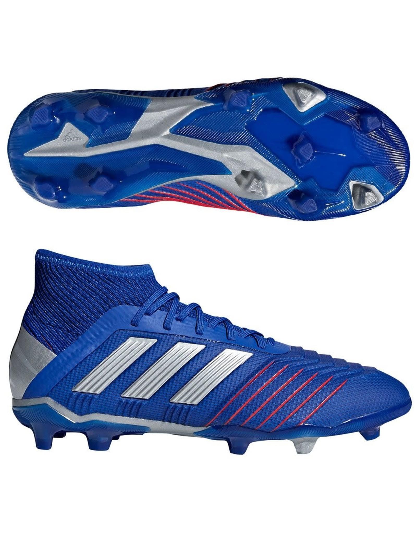Adidas Adidas PREDATOR 19.1 FG Cleats (Bold Blue/Silver Metallic/Football Blue)
