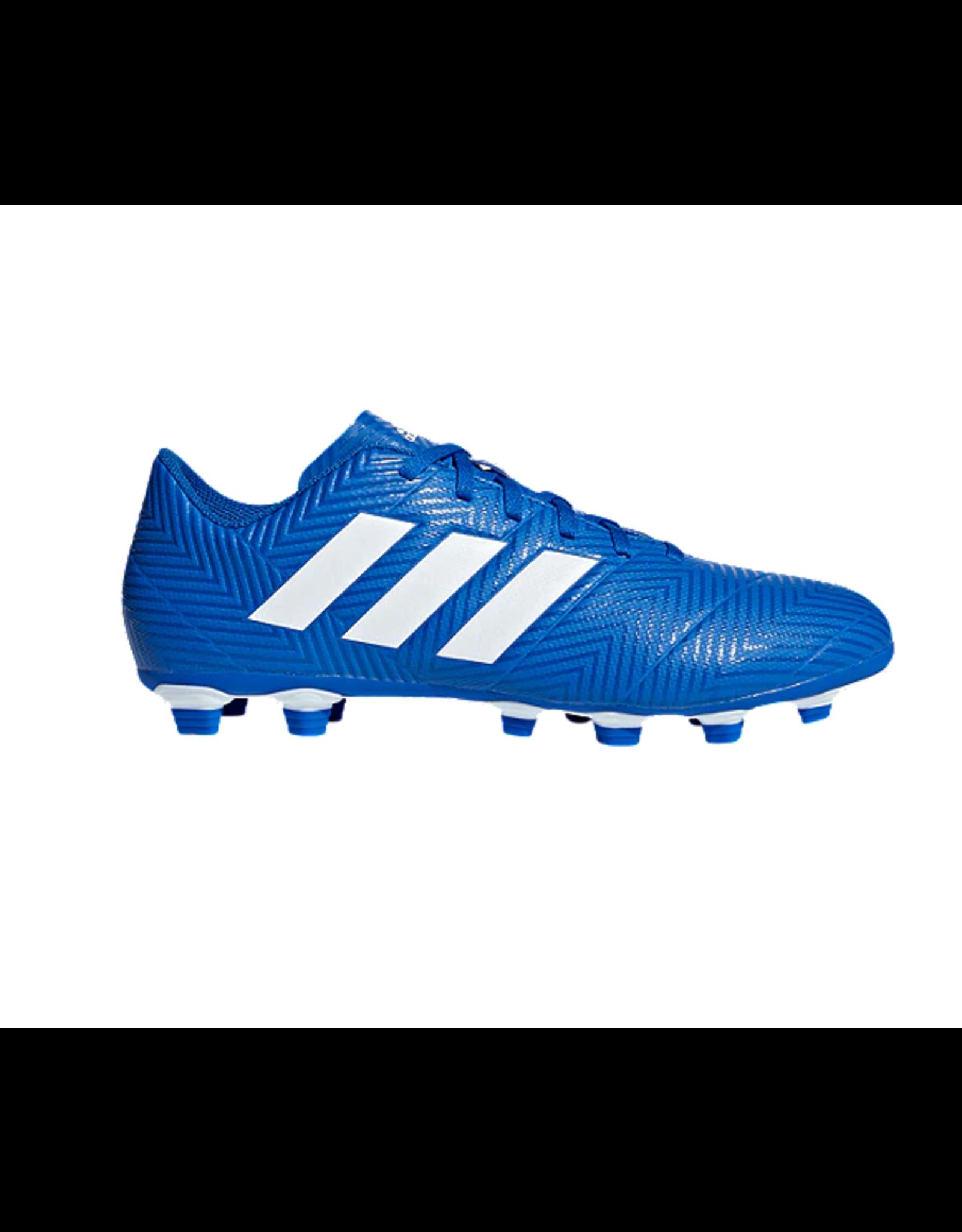 Adidas Adidas NEMEZIZ 18.4 FxG Cleats (Football Blue/Cloud White/Football Blue)