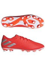 Adidas Adidas NEMEZIZ 19.4 FxG Cleats (Active Red/Silver Metallic/Solar Red)