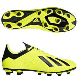 Adidas Adidas X 18.4 FG Cleats (Solar Yellow/Core Black/Cloud White)