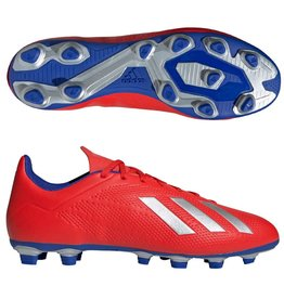 Adidas Adidas X 18.4 FG Cleats (Active Red/Silver Metallic/Bold Blue)