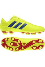 Adidas Adidas NEMEZIZ 18.4 FxG Cleats (Solar Yellow/Football Blue/Active Red)