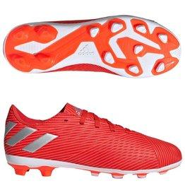 Adidas Adidas NEMEZIZ 19.4 FxG Junior Cleats (Active Red/Silver Metallic/Solar Red)