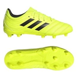 Adidas Adidas COPA 19.3 FG Junior Cleats (Solar Yellow/Core Black/Solar Yellow)
