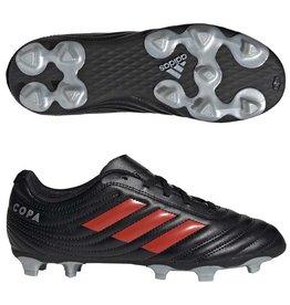 Adidas Adidas COPA 19.4 FG Junior Cleats (Core Black/Hi-Res Red/Silver Metallic)