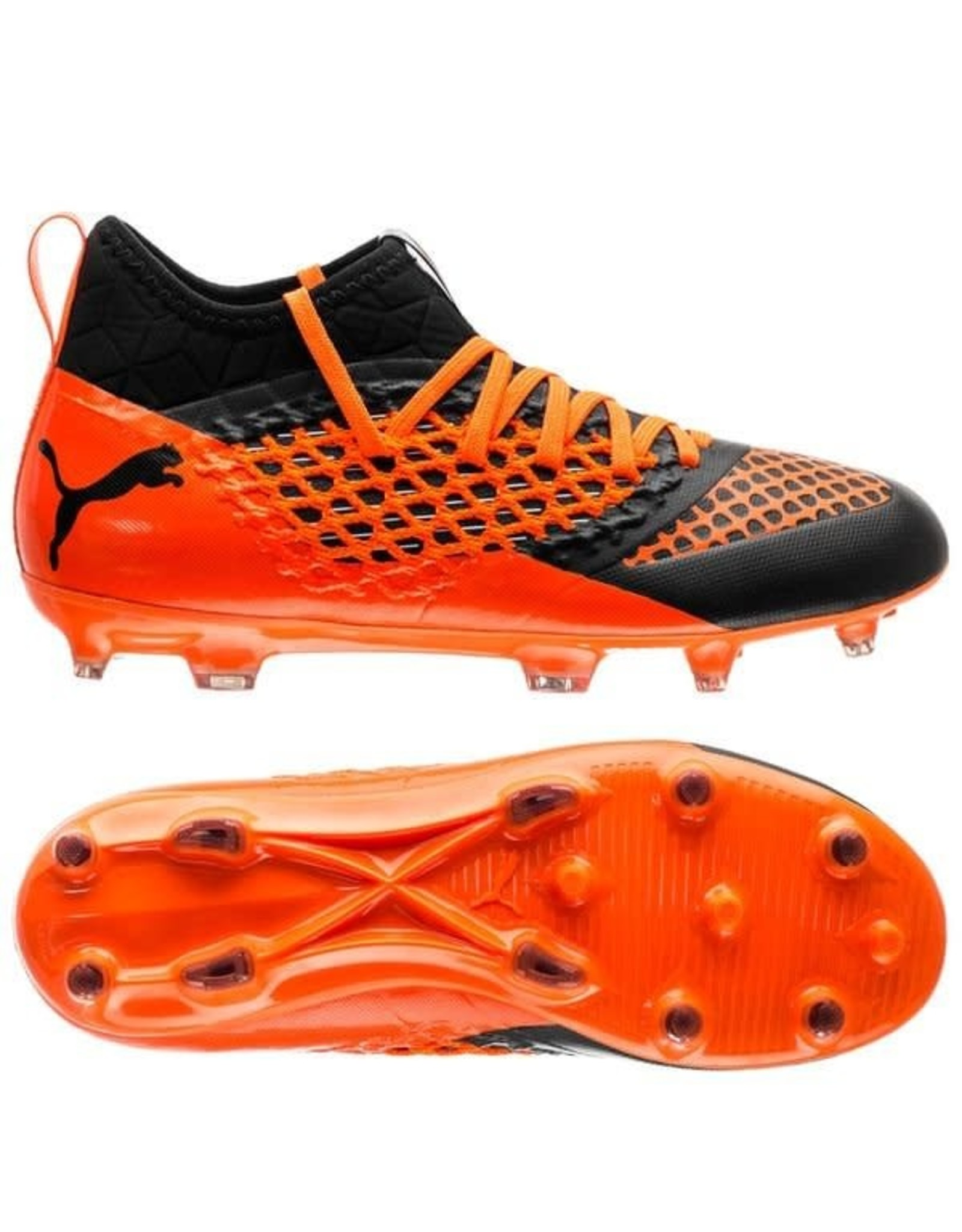Puma Puma FUTURE 2.3 NETFIT FG/AG Cleats (Puma Black/Shocking Orange)