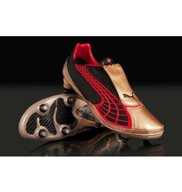 Puma Puma V1. 10 FG Cleats (Black/Team Gold/Puma Red)