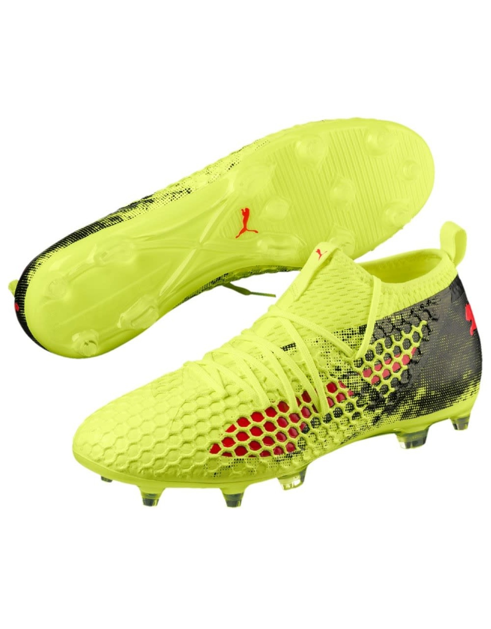 Puma Puma FUTURE 18.2 NETFIT FG/AG Cleats (Yellow/Red/Black)
