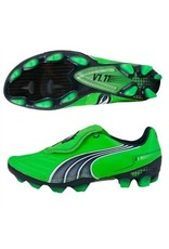Puma Puma V1. 11 1 FG Cleats (Fluo Green/Midnight Navy/White)