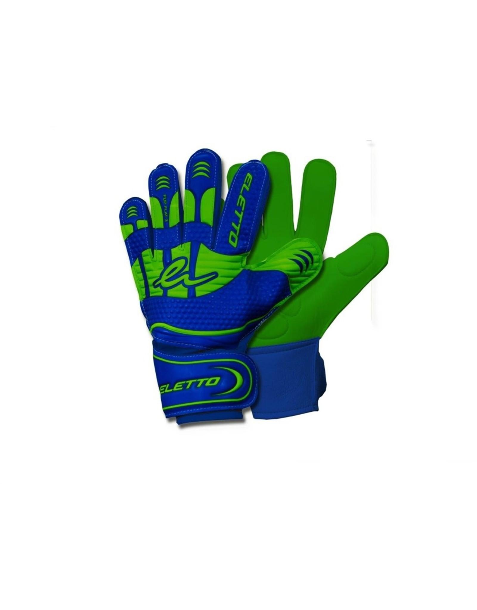 Eletto Eletto Goalkeeper Gloves Flip IV Flat (Blue/Neon Green)