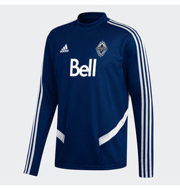 Adidas Adidas Men's Whitecaps FC Long Sleeve Training Jersey (Deep Sea Blue)