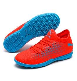 Puma Puma FUTURE 19.4 TT Junior Shoes (Red Blast/Bleu Azur)