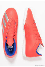 Adidas ADI  X 18.4 TF Shoes (Active Red/Silver Metallic/Bold Blue)
