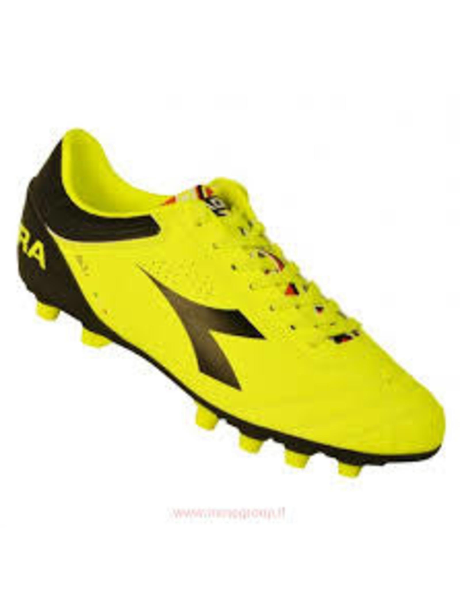 Diadora Diadora ITA3 MDPU FG Junior Football Boots (Fl Yellow/Black)