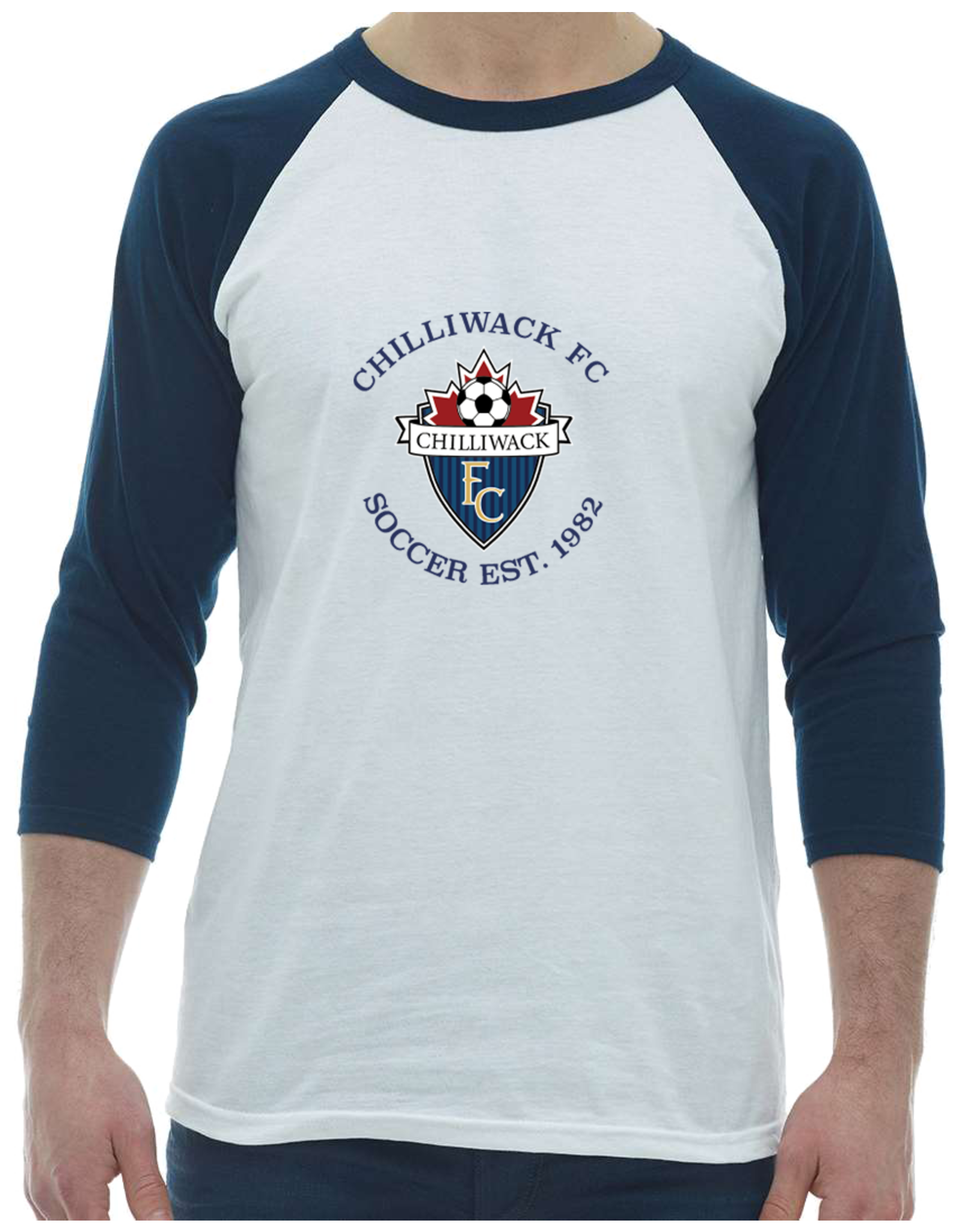 The Authentic T-Shirt Company CHILLIWACK FC 3/4 SLEEVE T -ADULT