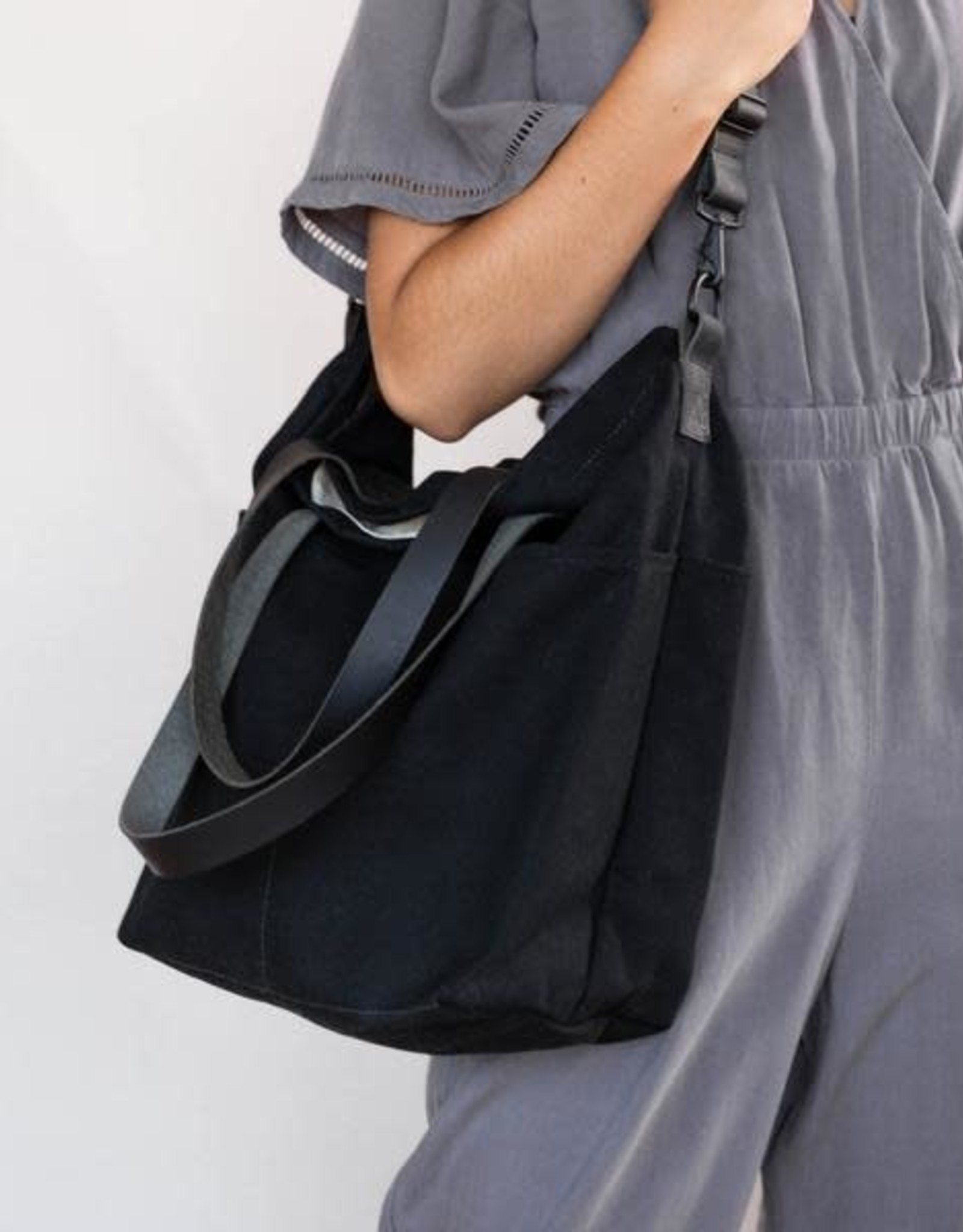Quince Quince Crossbody Canvas Project Tote