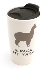 Lenny Mud Alpaca My Yarn Travel Mug