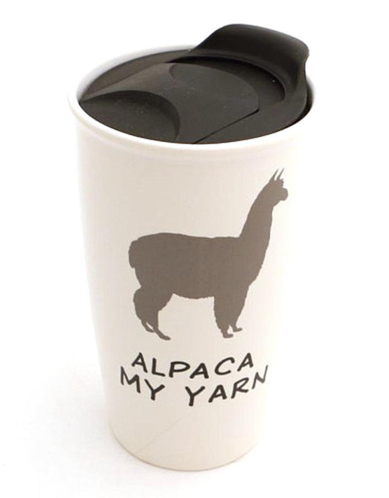 Lenny Mud Alpaca My Yarn Travel Mug