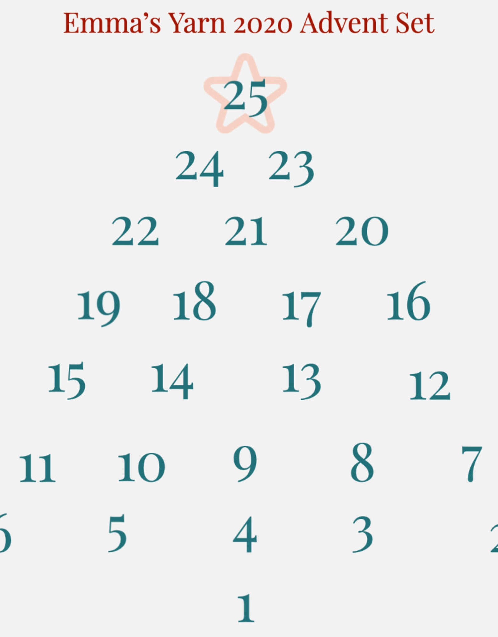 Emma's Yarn Emma's Yarn 2020 Advent Set