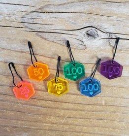 Katrinkles Katrinkles Rainbow Acrylic Number Stitich Marker Set