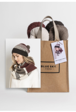 Blue Sky Alpacas Forest Lake Hat and Cowl Kit