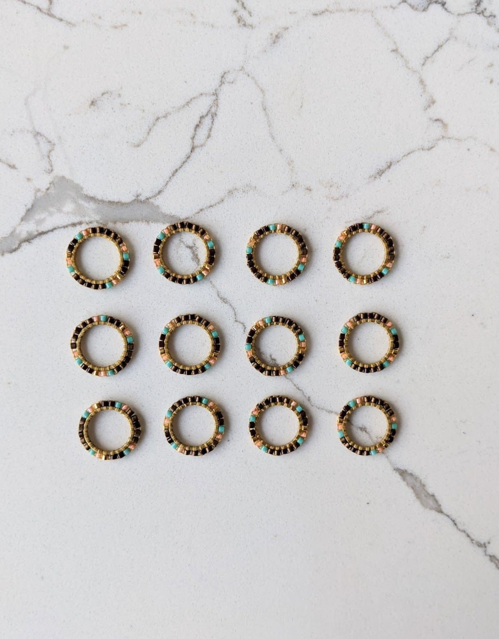 Thread and Maple Bead Ring Stitch Markers