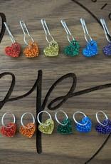Birdie Parker Designs Rainbow Glitter Stitch Markers
