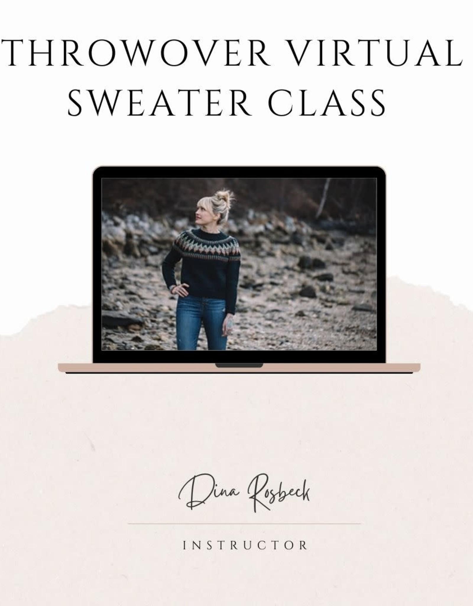 Throwover Sweater VIRTUAL class