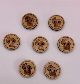 Katrinkles Wisconsin Buttons