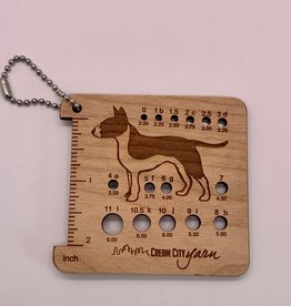 Katrinkles Pal's Pick Needle Gauge Keychain