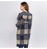 Judson & Co. Check plaid hooded cardigan