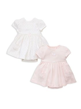 Little Me Elephant 2 pack bodysuit dress