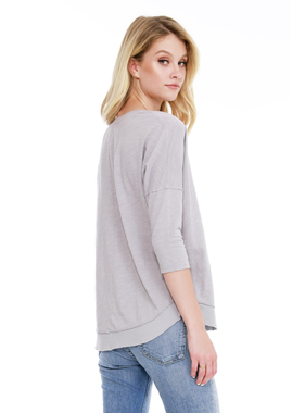 Bobi 3/4 drop shoulder tee by Bobi