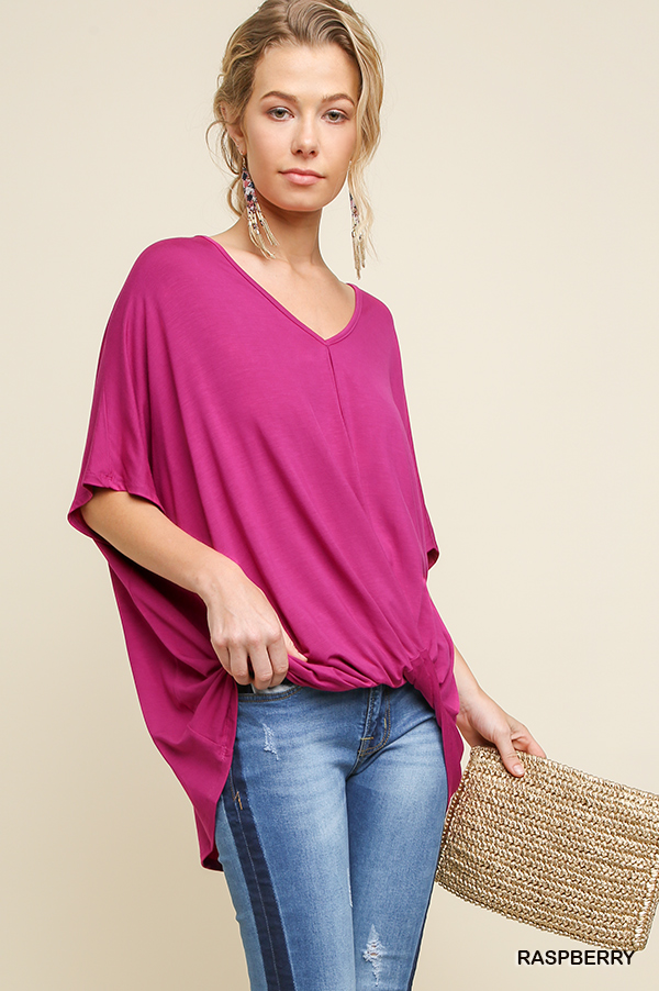 Umgee Relaxed fit surplice top