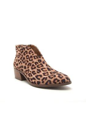 M&Z Shoes Leopard print slip on bootie