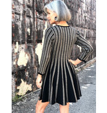 Adore Lurex Stripe Dress by Adore