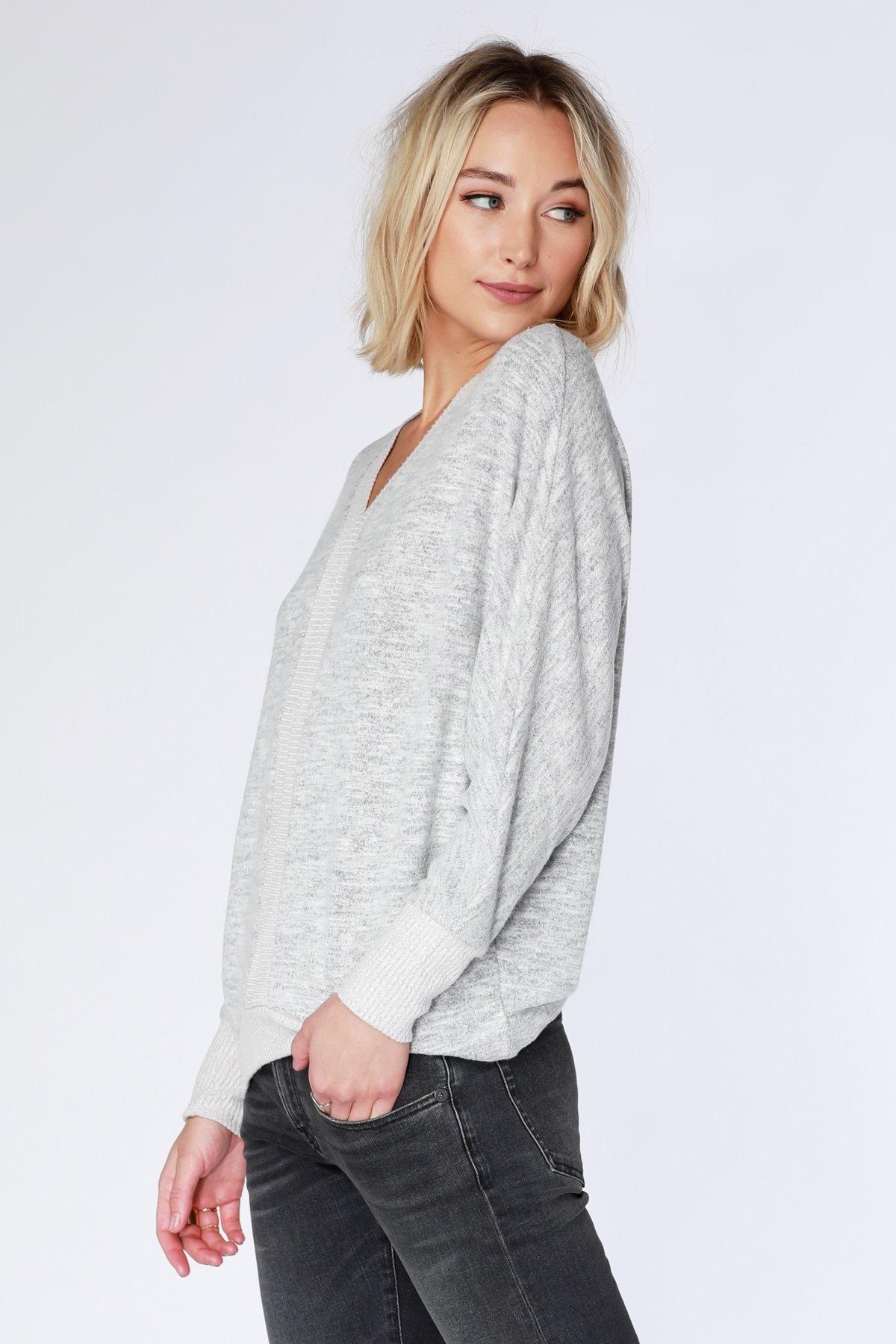 Bobi L/S Hi Low Dolman Sweater