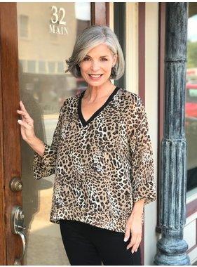 Last Tango Leopard print v neck top