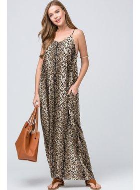 Entro Inc. Leopard maxi dress