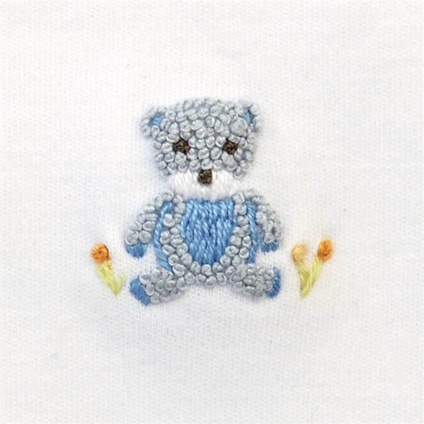 Mud Pie Blue Bear Bib