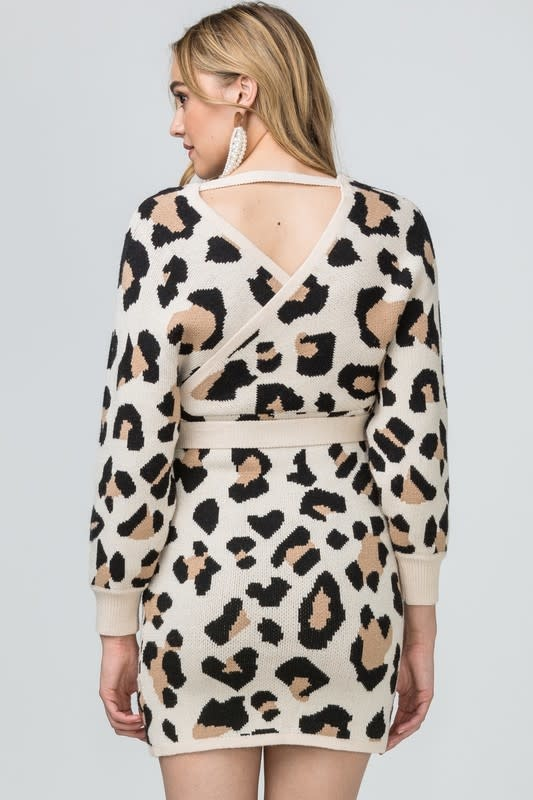 Entro Inc. Leopard wrap dress