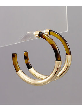 Golden Stella Tortoise & Tube hoops