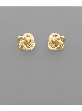Golden Stella Love knot studs