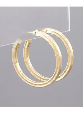Golden Stella Textured open hoops