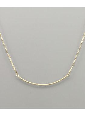 Golden Stella Curved bar necklace