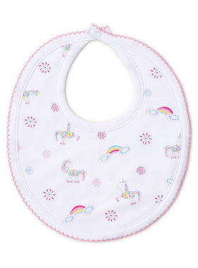 Kissy Kissy Rainbow unicorns bib