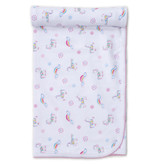 Kissy Kissy Rainbow unicorns blanket