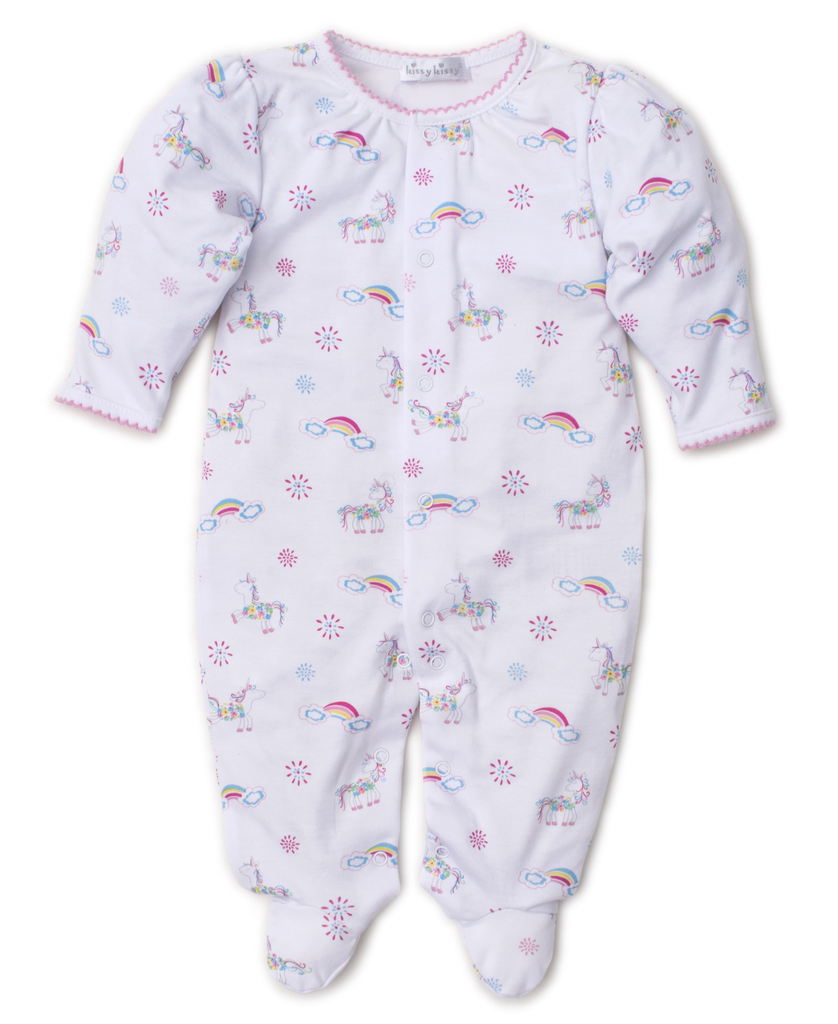 Kissy Kissy Rainbow unicorns footie